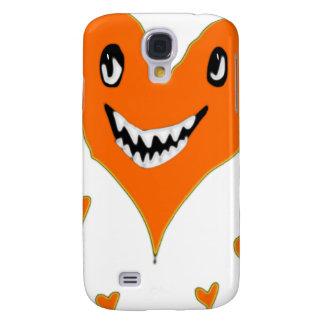 Halloween orange smiling heart galaxy s4 case