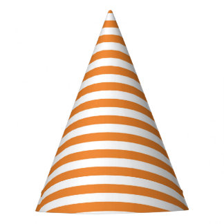 Halloween Orange Stripe Party Hat
