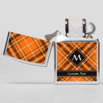 Halloween Orange Tartan Zippo Lighter
