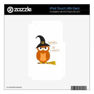 Halloween orange witch owl iPod touch 4G decals