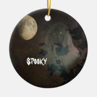 Halloween Double-Sided Ceramic Round Christmas Ornament