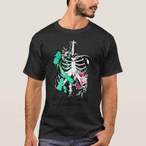 Halloween Ovarian Cancer Awareness For Women T-Shirt
