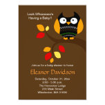 "Halloween Owl 5x7 Baby Shower Invitation 2-sided 5"" X 7"" Invitation Card"