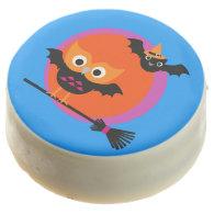 Halloween Owl and Bat Dipped Oreos Chocolate Covered Oreo