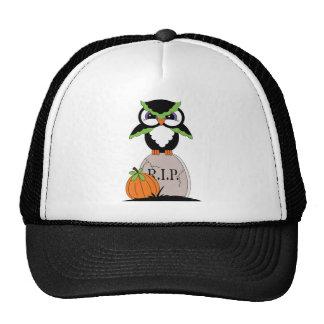 Halloween Owl and Gravestone Mesh Hats