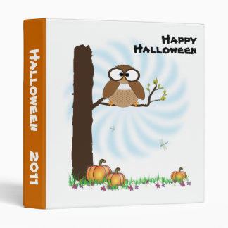 Halloween Owl Avery Binder