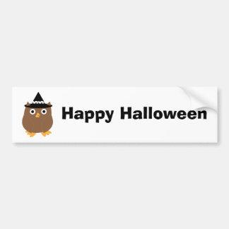 Halloween Owl Bumper Sticker