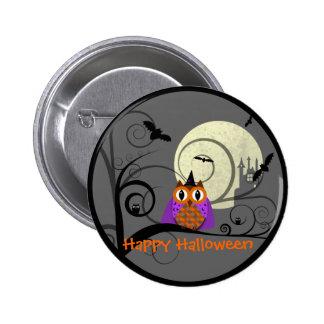 Halloween Owl Pinback Buttons