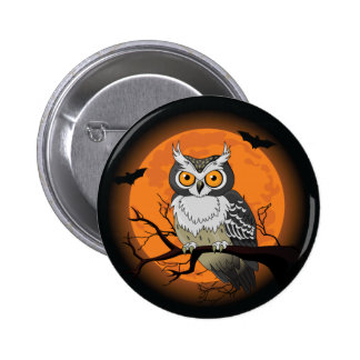 Halloween Owl Button