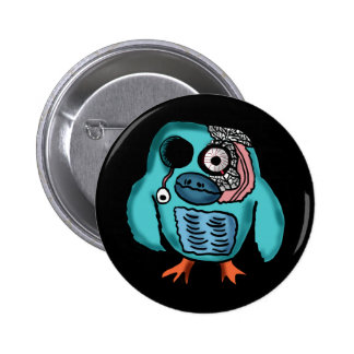 Halloween Owl Cartoon Pinback Buttons