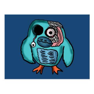 Halloween Owl Cartoon Postcard