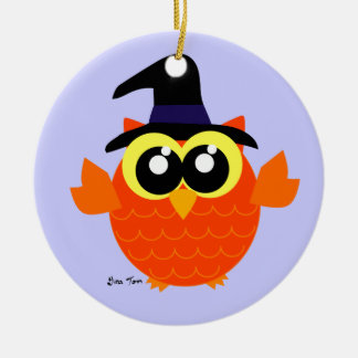 Halloween Owl Ceramic Ornament
