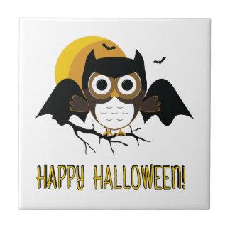 Halloween Owl Ceramic Tile