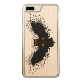 Halloween Owl Concept Illustration Carved iPhone 7 Plus Case