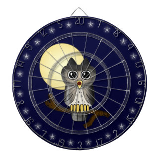 Halloween Owl Custom Dart Board