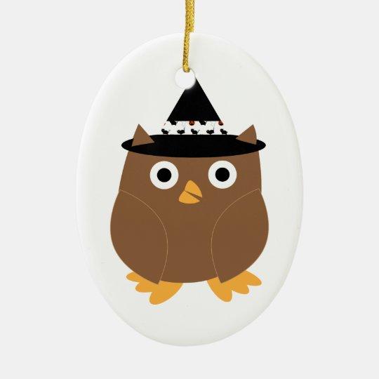Halloween Owl Customizable Ornament