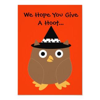 Halloween Owl Customizable Party Invitation