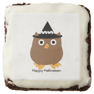 Halloween Owl Customizable Square Brownie