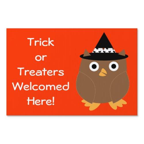 Halloween Owl Customizable Yard Sign