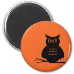 Halloween Owl Fridge Magnet