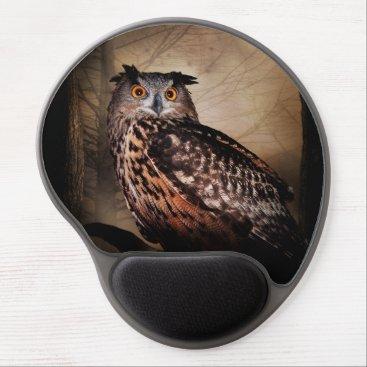 Halloween Themed Halloween Owl Gel Mouse Pad