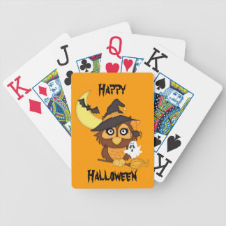 Halloween Owl/Ghost/Bats/Moon Bicycle Playing Cards
