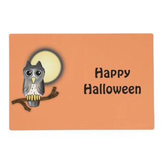 Halloween Owl Happy Haloween Placemat