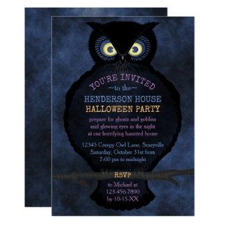 Halloween Owl Haunted House Party Creepy Scary Fog Card