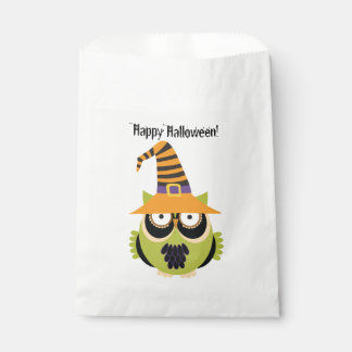 Halloween Owl in Witch's Hat Favor Bag