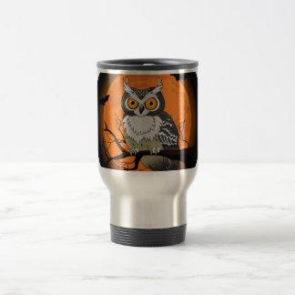 Halloween Owl 15 Oz Stainless Steel Travel Mug