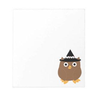 Halloween Owl Notepad