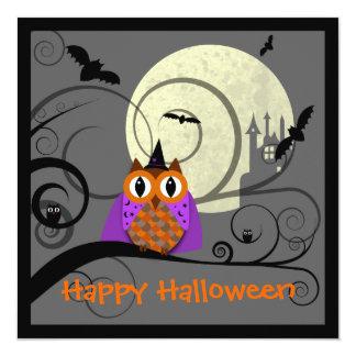 Halloween Owl Party Invitation