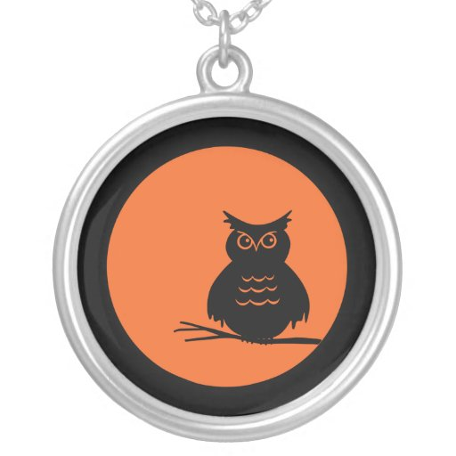 Halloween Owl Personalized Necklace