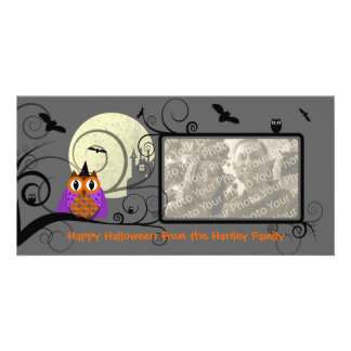 Halloween Owl Photo Card