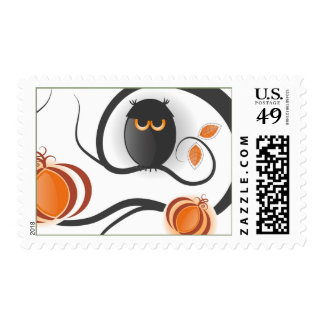 Halloween Owl Postage Stamps