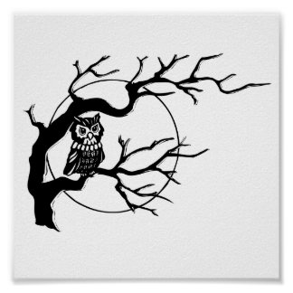 Halloween Owl Poster