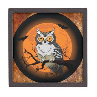 Halloween Owl Premium Jewelry Box