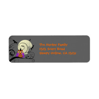 Halloween Owl Return Address Label
