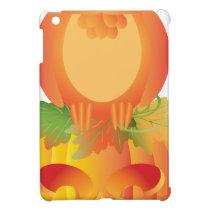 Halloween Owl Sitting on Pumpkin Illustration iPad Mini Cases