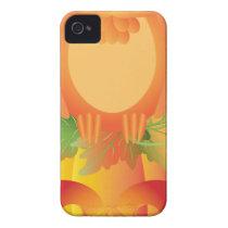 Halloween Owl Sitting on Pumpkin Illustration iPhone 4 Cover