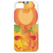 Halloween Owl Sitting on Pumpkin Illustration iPhone SE/5/5s Case
