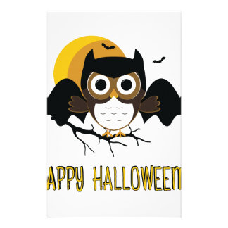 Halloween Owl Stationery