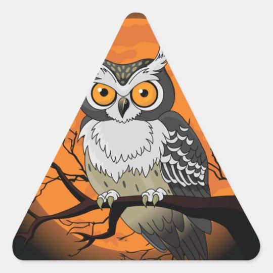 Halloween Owl Triangle Sticker