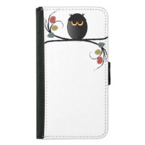 Halloween Owl Wallet Phone Case For Samsung Galaxy S5