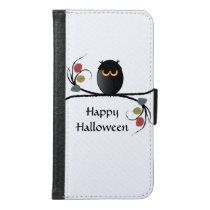 Halloween Owl Wallet Phone Case For Samsung Galaxy S6