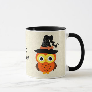 Halloween Owl with Witch Hat Mug