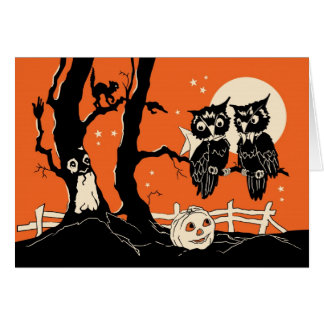 Halloween Owls Card