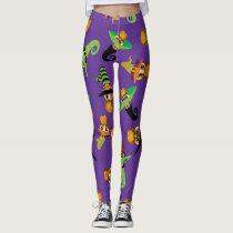 Halloween Owls - Purple (5) Leggings