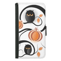 Halloween Owls Samsung Galaxy S5 Wallet Case