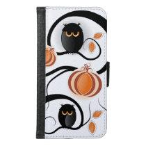 Halloween Owls Samsung Galaxy S6 Wallet Case